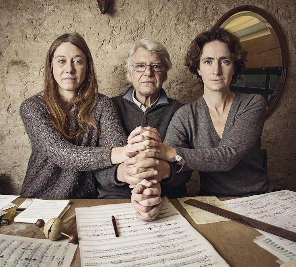 Valérie Dréville, Georges Aperghis et Geneviève Strosser © Xavier Lambours pour T&M Paris
