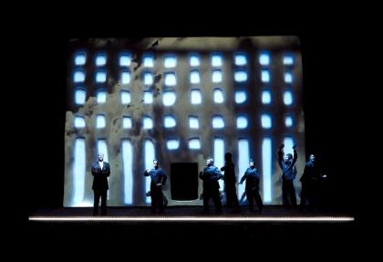 Les Nègres, photo de répétition © Lucie Jansch
