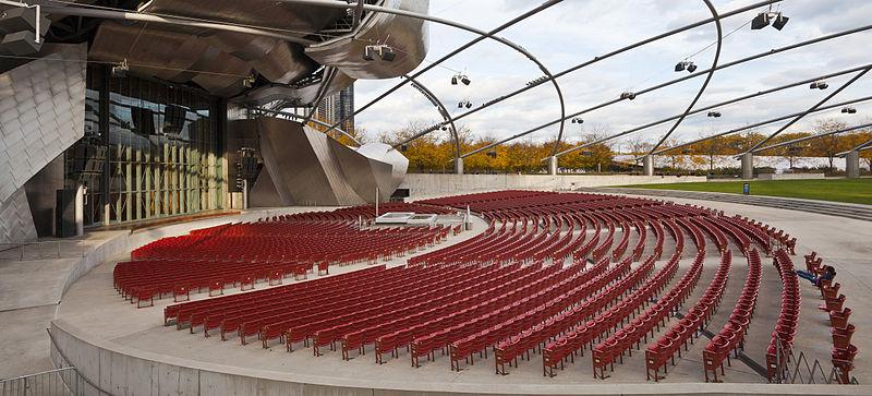 Jay Pritzker Pavilion (Chicago, Etats-Unis) 1999-2004