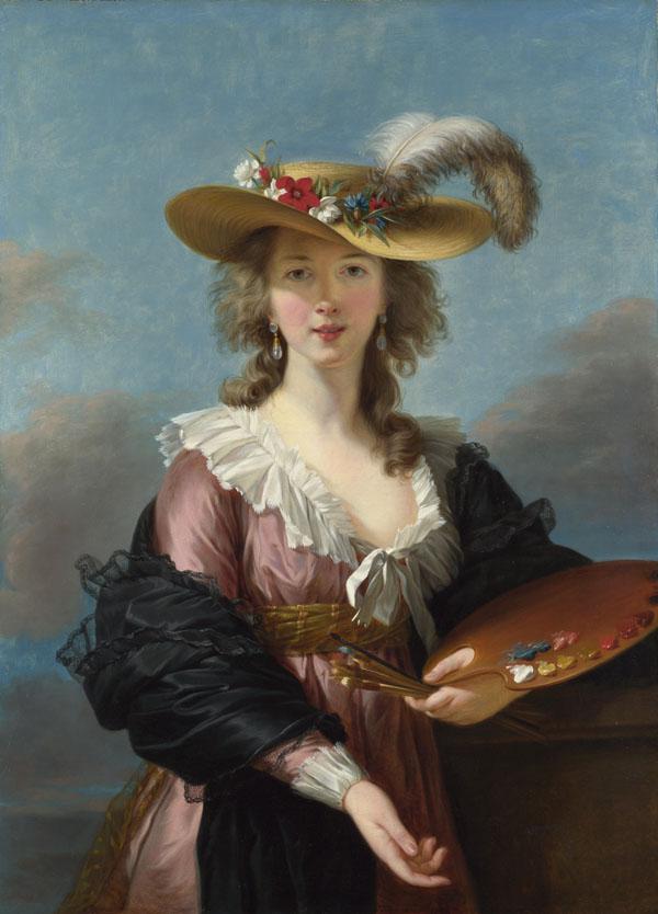 Autoportrait au chapeau de paille, Elisabeth Louise Vigée Le Brun