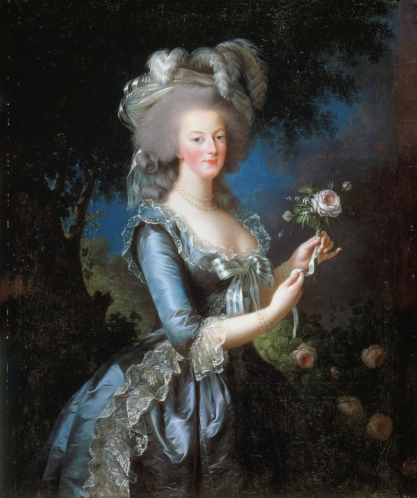 """Portrait de Marie Antoinette dit """"à la Rose"""" par Élisabeth Louise Vigée Le Brun (1783)"""