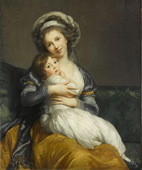 """Autoportrait de l'artiste avec sa fille Julie dit """"La Tendresse maternelle"""", Élisabeth Louise Vigée Le Brun (1786)"""