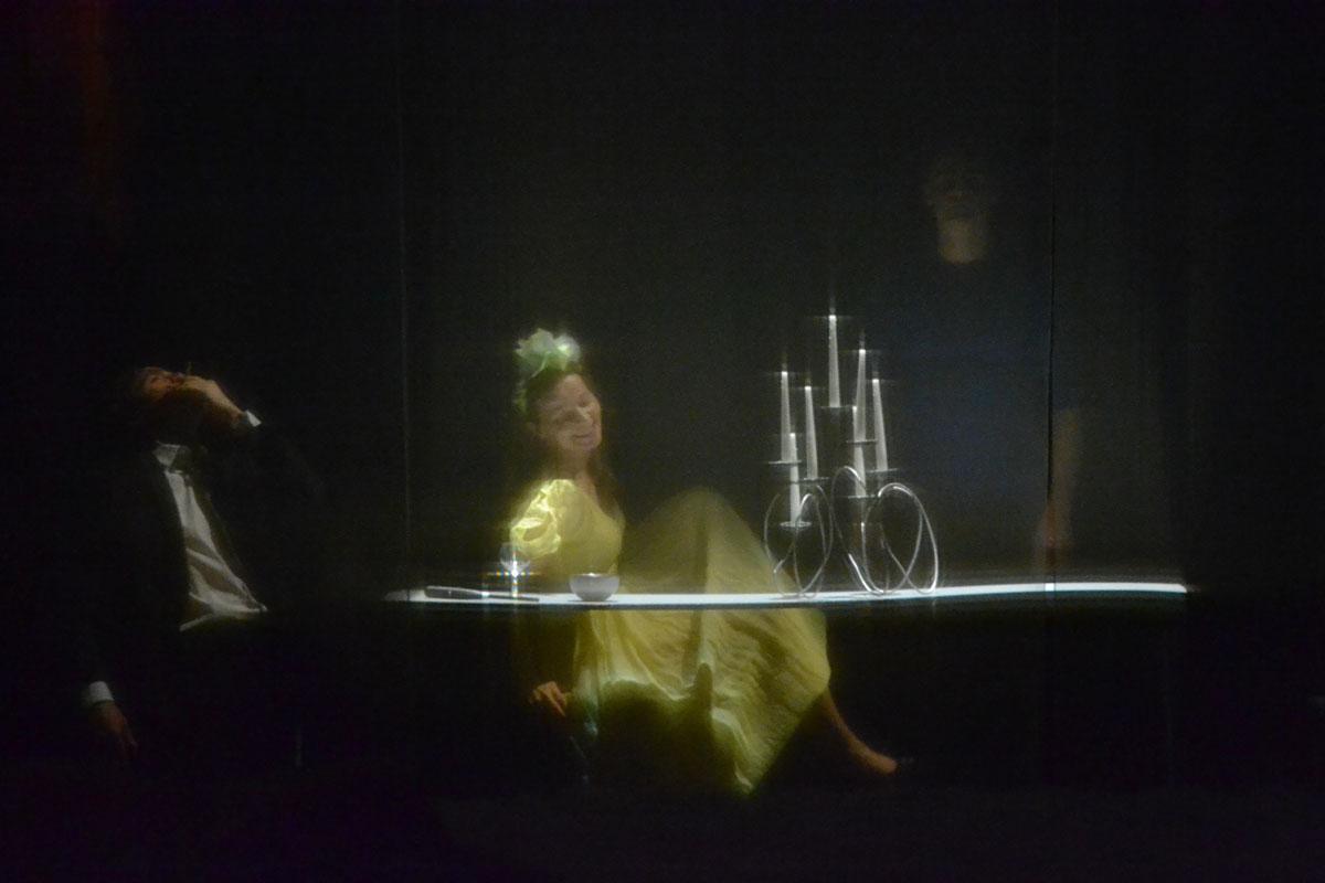 Dominique Reymond dans La Ménagerie de verre par Daniel Jeanneteau © Mammar Benranou